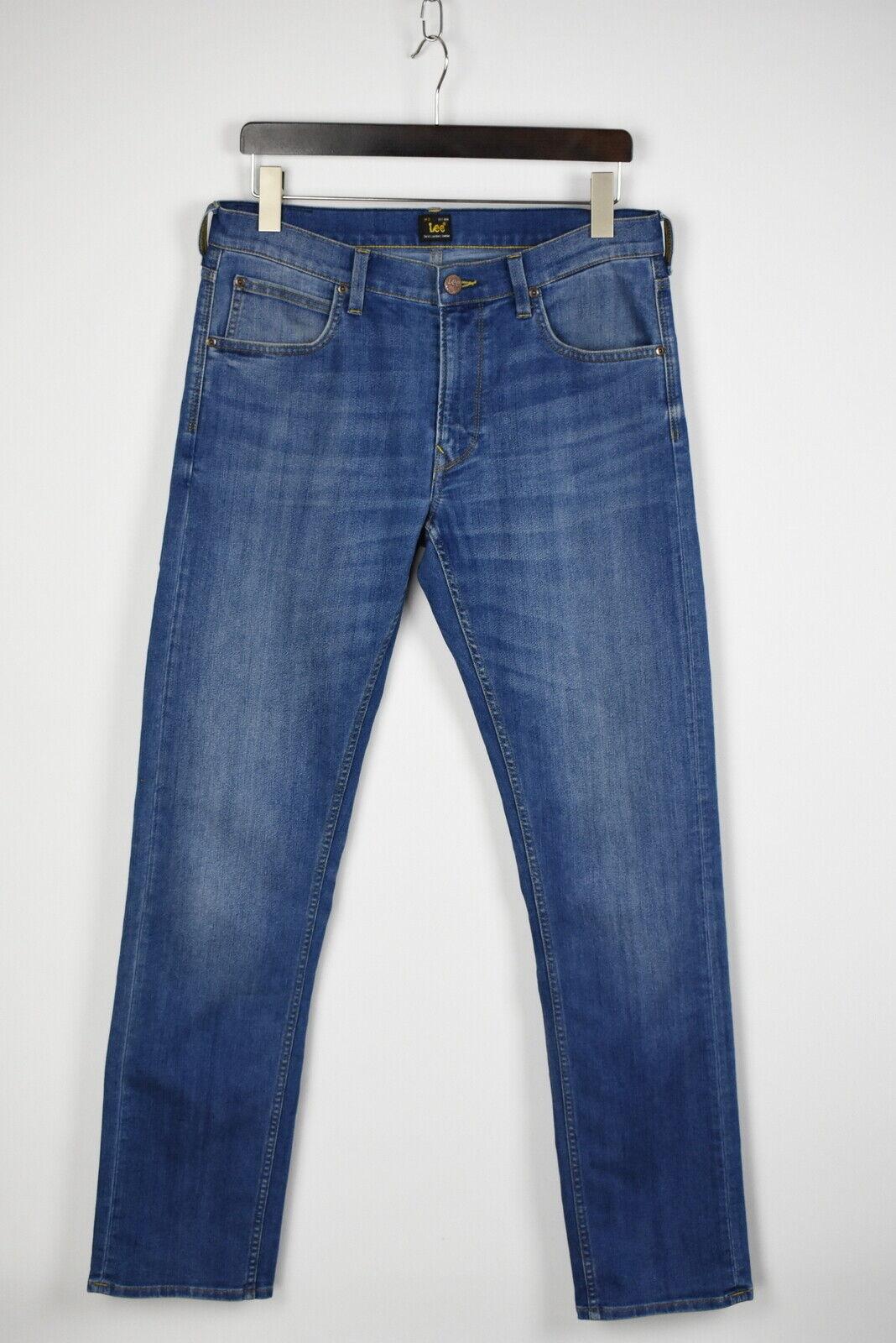Lee Daren Zip Fly Herren W33/L34 Dehnbar Fade Effekt Blau Jeans 28828_ Js