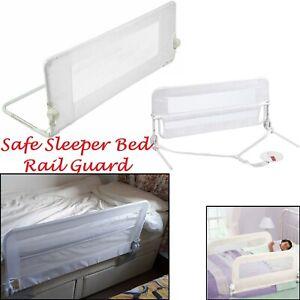 Protector-de-cama-ninos-del-nino-ninos-de-seguridad-cama-elevada-Riel-De-Metal-Plegable-bedguard