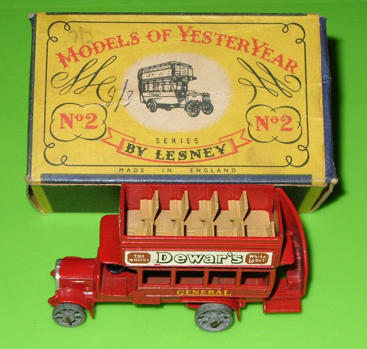 Matchbox - Yesteryear   Y2 1911 B Type London Bus   Boxed