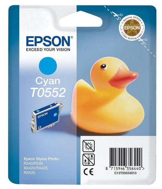 2 Piece Original Epson T0552 Cyan Epson Stylus Photo R240 R245 RX420 RX520 RX425