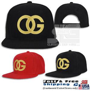 Image is loading OG-Hat-Original-Gangster-Cap-Gold-Embroidered-Design- ae05eade00b0