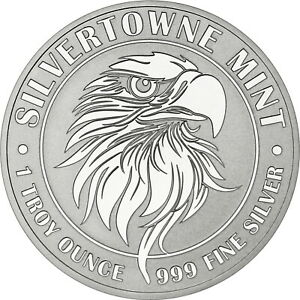NEW-SilverTowne-Mint-Mighty-Eagle-1oz-999-Silver-Medallion