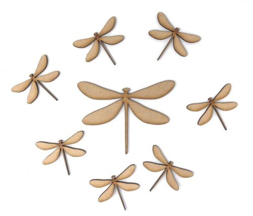 Wooden MDF Dragonfly craft shape craft decoration tags embellishment