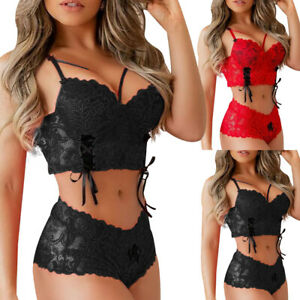 ❤️ Sexy Damen BH Set Lingerie Dessous Anzug Unterhose Bra Reizwäsche Unterwäsche