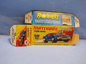 Vintage-Original-Caja-Vacia-Matchbox-para-10-Piston-Popper-Coche-de-Juguete-Coleccionable