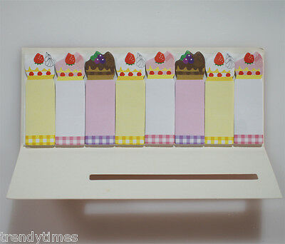 Stick Marker Cute Sticky Notes for Bookmark Memo 15 sheets x 8 - Cake Slice