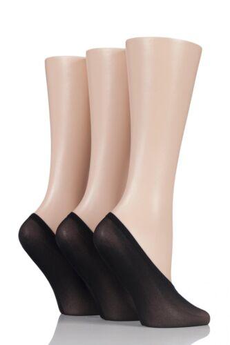 Ladies 3 Pair SockShop Soft Sheen Shoe Liner Socks