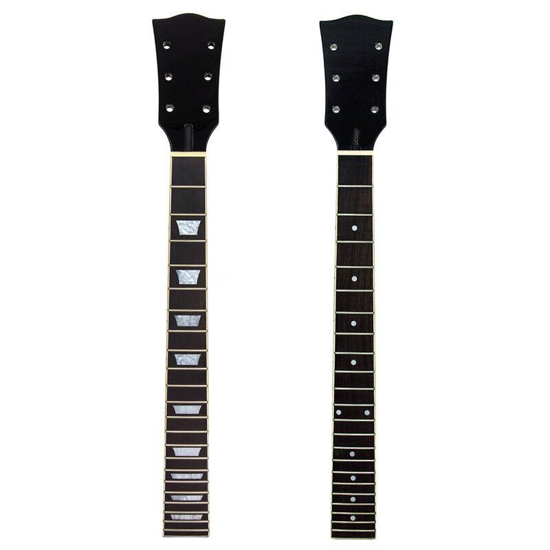 2 pcs replacement electric guitar neck for guitar parts 22 fret black 634458640138 ebay. Black Bedroom Furniture Sets. Home Design Ideas