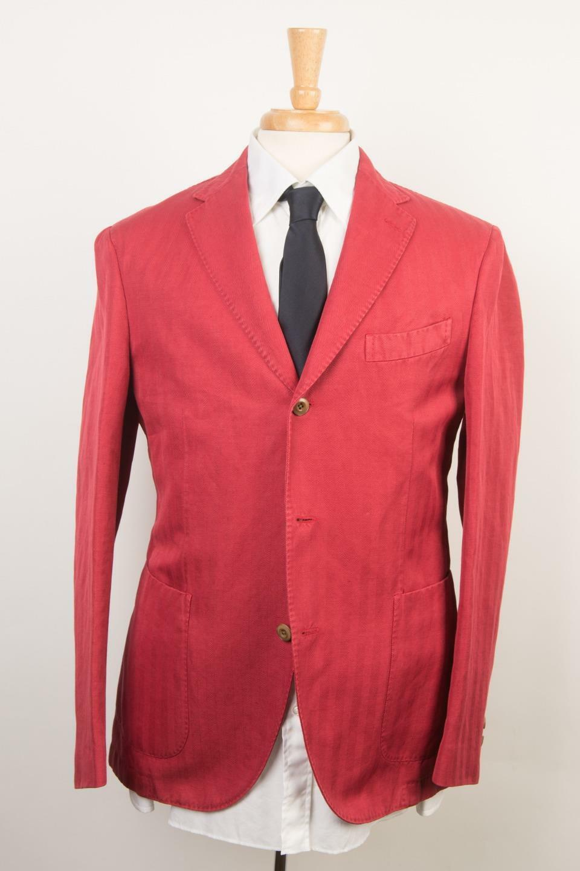 Boglioli NWT 'Coat' ROT Herringbone 3 Button Cotton Linen Sport Coat 50 IT 40 US