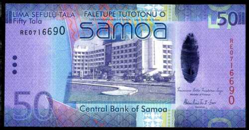 2008 WESTERN  SAMOA  50 TALA  ND 2012  P 41   Prefix RE   Uncirculated
