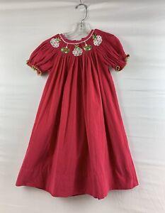 Anavini Christmas Ornaments Corduroy Smocked Bishop Dress ...
