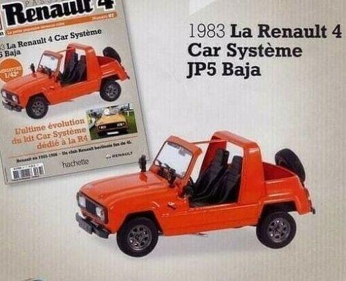 La Renault 4 Car Système JP5 Baja 1//43 Neuf en boite 4L 1983