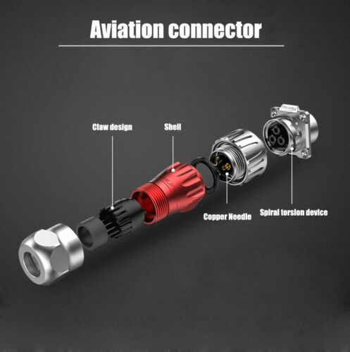 Aviation Connector DH20 2P 3P 4P 5P 7P 9P12P Waterproof Cable Connector 500V 20A