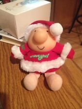 """Vintage American Greetings ZIGGY """"I Love You"""" Plush Santa Christmas Outfit Hat"""