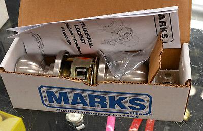 MARKS 180RAB//32D CYLINDRICAL LOCKSET STAINLESS ENTRANCE DOOR LOCK SET GRADE 1