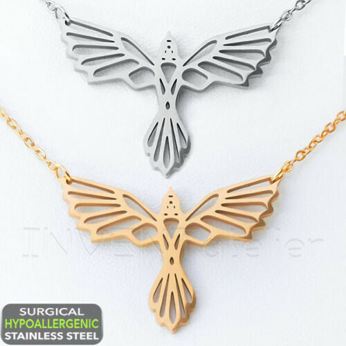 """Surgical Stainless Steel EAGLE NECKLACE 18/"""" Hypoallergenic Chain"""