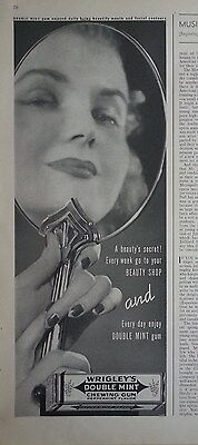 1936 Wrigleys Doppio Come Nuovo Chewing Gum Bella Signora Vintage