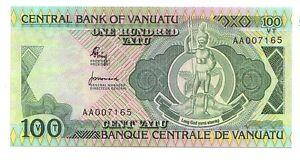 Vanuatu-100-vatu-1982-serie-AA-FDS-UNC-Pick-1-a-Lotto-3464