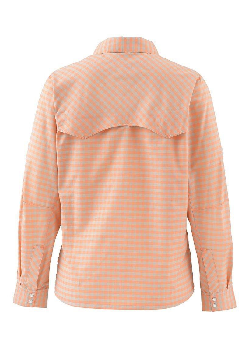 Simms Wouomo BIG SKY Long Long Long Sleeve Shirt  Melon Plaid NEW  Closeout Dimensione Small b83cbb