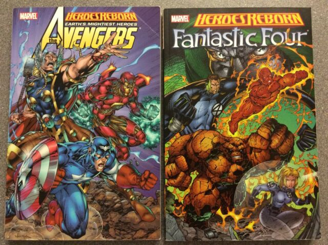 Marvel Comics - HEROES REBORN: AVENGERS & FANTASTIC FOUR TPB Jim Lee Rob Liefeld
