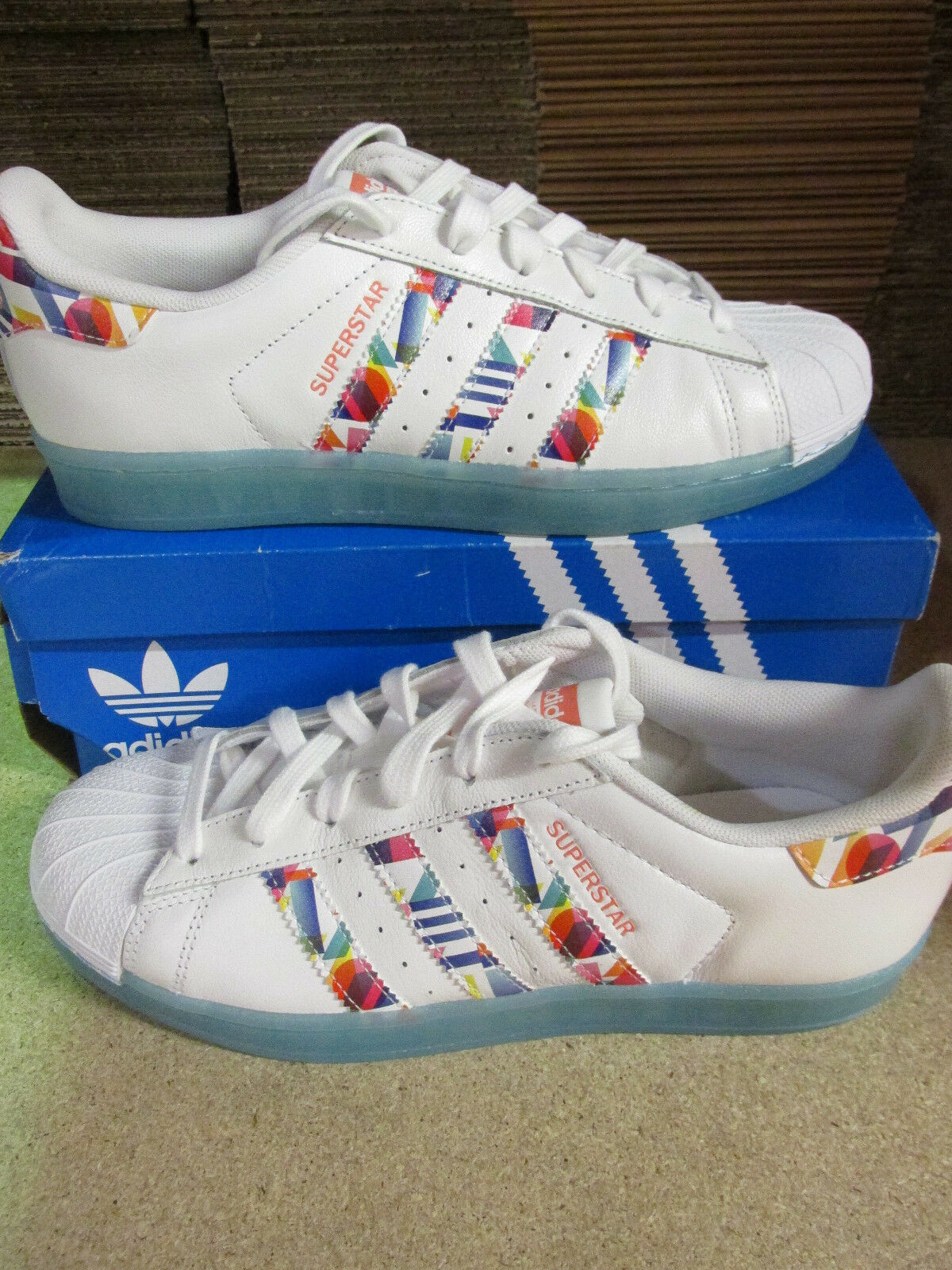 Zapatos promocionales para hombres y mujeres adidas originals superstar BB4308 womens trainers sneakers shoes