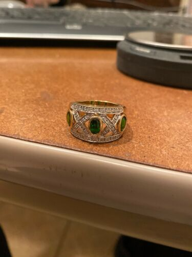 Details about  /Chrome Diopside Gemstone Anniversary Jewelry 10k White Gold Ring