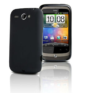 BLACK-GEL-SOFT-RUBBER-CASE-SKIN-COVER-FOR-HTC-WILDFIRE