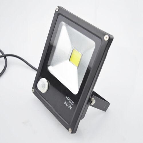 LED Flood light PIR Motion Sensor Spot Lamp Building Waterproof Outdoor