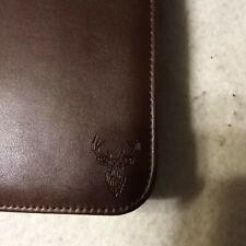 Wundermax Portfolio Binder Zippered Padfolio With Tablet Pocket Vegan Leather