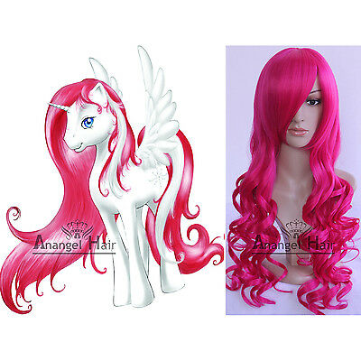 My Little Pony Rainbow Dash Wig Fluttershy Twilight Applejack Synthetic Hair