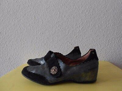 Schuhe Slipper PACO VALIENTE Gr.38 Leder TOP