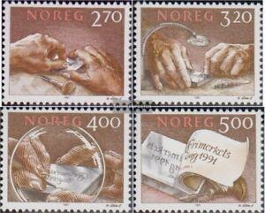 Norwegen-1070-1073-kompl-Ausg-postfrisch-1991-Stichtiefdruck