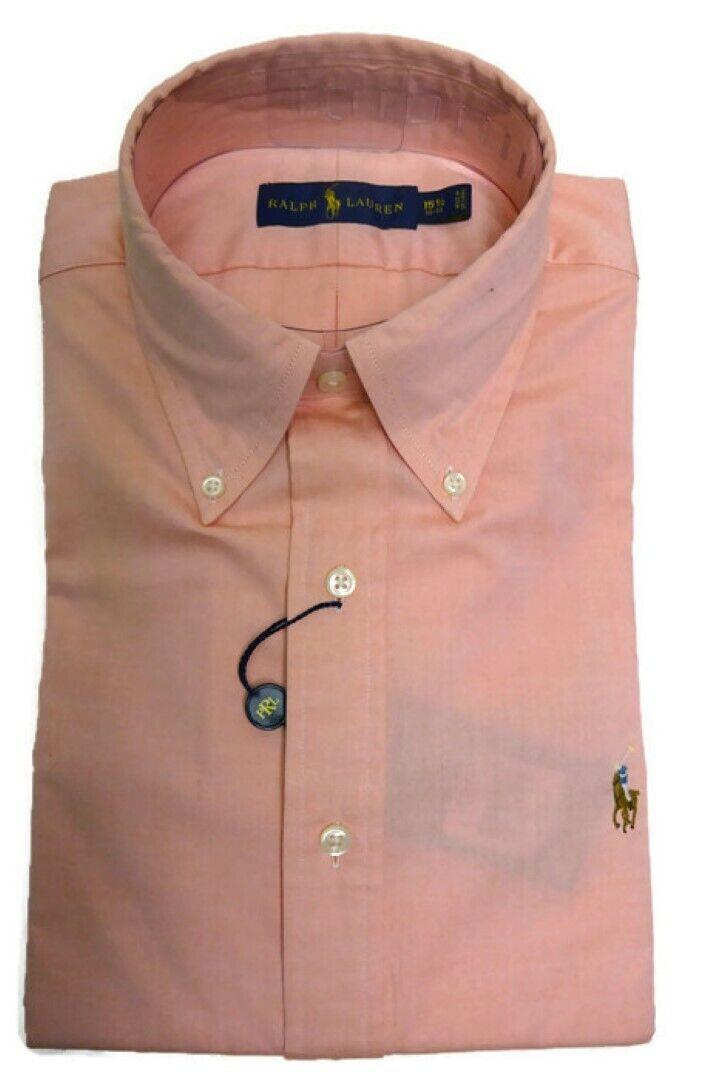 RALPH LAUREN Polo Men's Long Sleeve Oxford Shirt, orange (15 1 2-32 33)