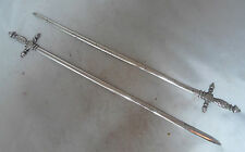 Antique Silver Plated Sword Meat Skewers By Christofle 26.4cm A595017