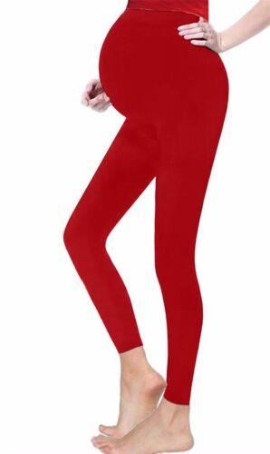 Femme Femme Maternité en Coton Pleine Longueur Leggings Taille UK 8-20