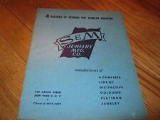 Vintage S & M Jewelry Mfg Co New York Gold & Platium Canal 6-5677 Jeweler book