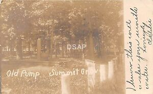 C52/ New Freedom Pennsylvania Pa Real Photo RPPC Postcard 1906 Summit Grove Pump