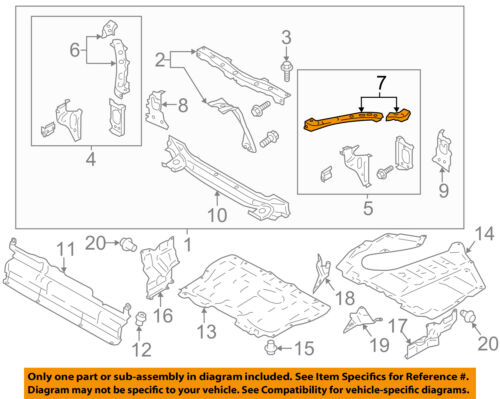 Scion TOYOTA OEM FR-S Radiator Core Support-Upper Panel Cover Left SU00301367