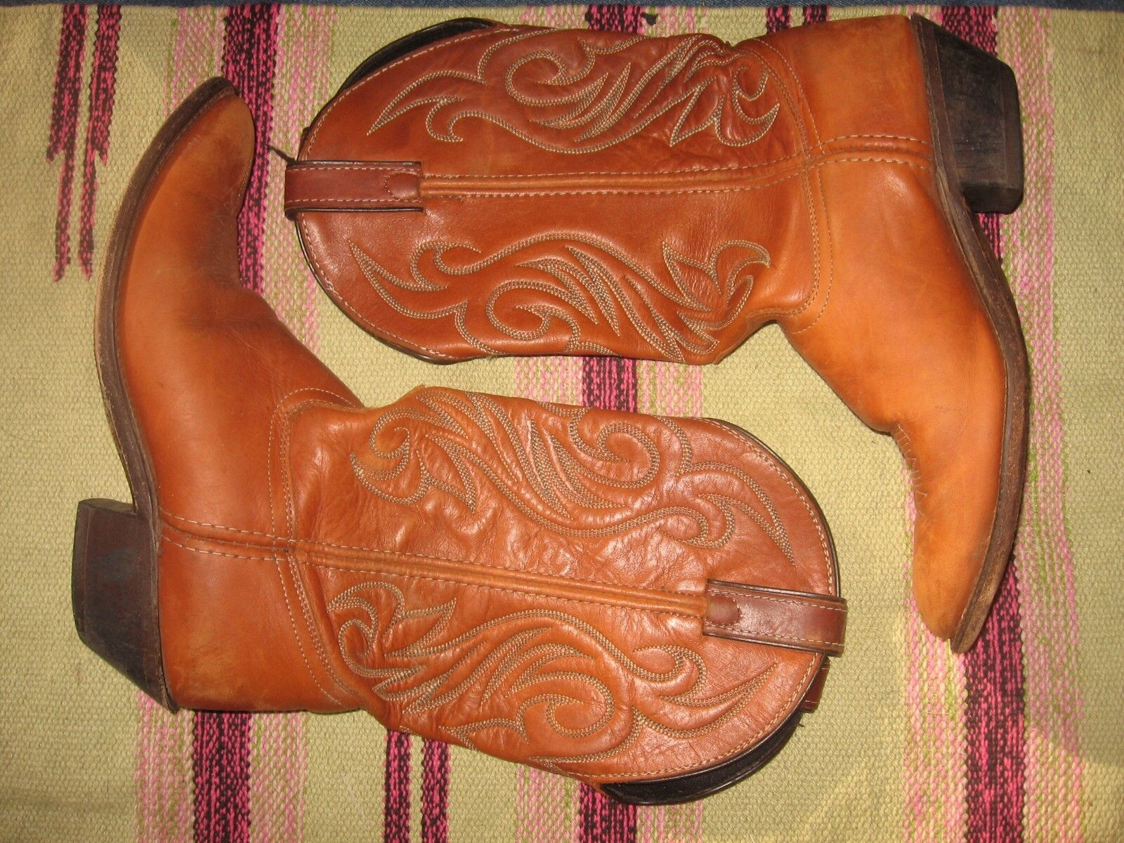 WOMENS 9 M BROWN LEATHER LAREDO WESTERN COWBOY BOOTS