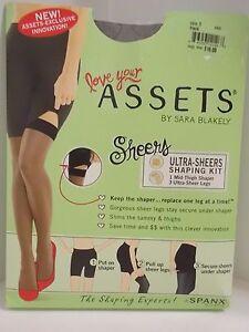 53b0b21c216 Spanx ASSETS by Sara Blakely Ultra Sheers Shaping Kit 845B - Black ...