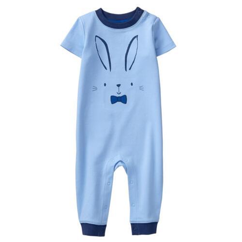 NWT Gymboree Baby Bunny Rabbit Romper Baby Boy 6-12-18-24