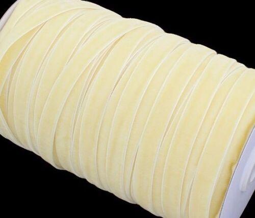 10m Samtband 10mm Gelb Puder Samtborte Zierband SCHMUCKBAND SCHLEIFENBAND C266