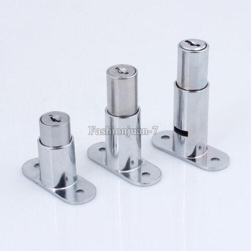 10PCS Sliding Glass Cabinet Locks Display Showcase Glass Push Door Cam Lock+Keys