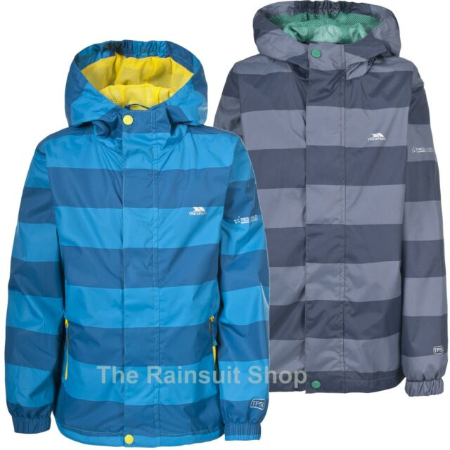 TRESPASS BOYS WATERPROOF AHOY HOODED RAIN JACKET COAT KIDS CHILDS 3-12yrs