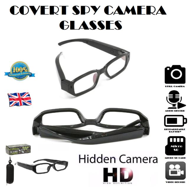 4fcba041c6b84 COVERT SPY CAMERA GLASSES Video Audio HD Recording Device Discreet  Sunglasses