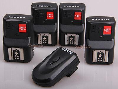 WANSEN PT-04 4 Channels Wireless Flash Trigger+4 Receivers Yongnuo Canon Nikon