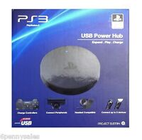 Sony Playstation 3 Ps3 Usb Power Hub Charger Controller Headset 5 Port Seal