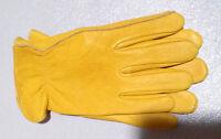 Luxury Deer Skin Leather Gloves Natural Unlined Men's Grade Slight Scratches