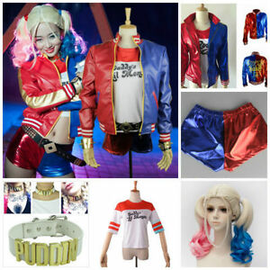 Suicide-Squad-Harley-Quinn-Daddy-039-s-Lil-Monster-Halloween-Cosplay-Kostueme-BC297