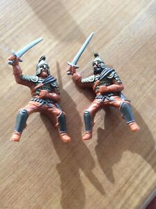 Lot-Of-2-Vintage-Samurai-Warrior-Action-Figures-Airk-For-Model-Train